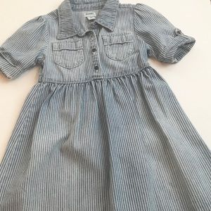 Adorable seersucker denim dress